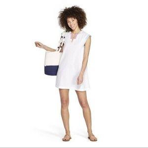 Vineyard Vines For Target White Patchwork Dress L